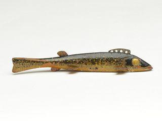 Walleye fish decoy, Oscar Peterson, Cadillac, Michigan.