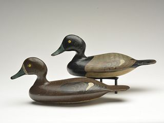 Exceptional rigmate pair of bluebills, George Stevens, Weedsport, New York, last quarter 19th century.