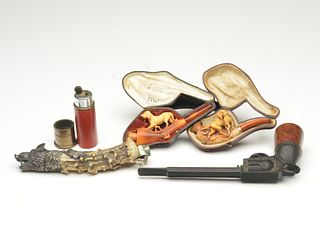 Five tobacco related items.