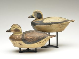 Rigmate pair of oldsquaw, Shang Wheeler, Stratford, Connecticut, 2nd quarter 20th century.