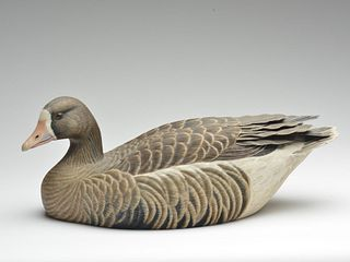 Hollow carved speckle bellied goose, Ralph Stutheit.
