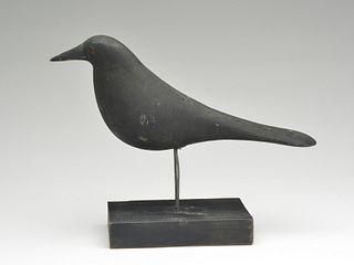 Working crow decoy, Charles Perdew, Henry, Illinois, circa 1930.