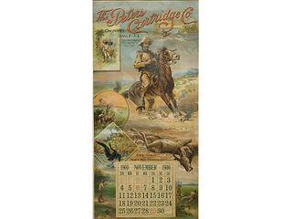 Rare Peters Cartridge company calendar, 1900.