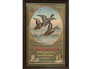 """Winchester poster, """"They Are Hitters."""""""