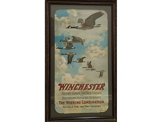 Rare Winchester advertising poster.