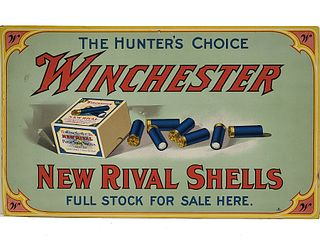 Store display or hang tag die cut, Winchester Rival.