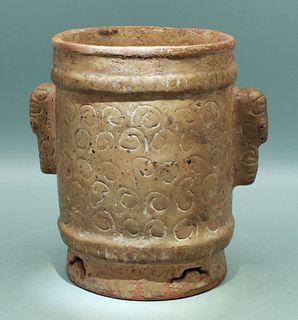 Maya Cylinder - Sula Valley, ca. 400 - 700 AD