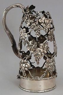 Gorham Figural Sterling Silver Wine Bottle Holder