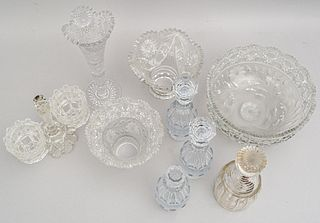 Nice Group of Antique Cut Glass Table Articles