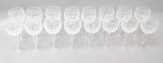 Set of 16 Waterford Crystal Wine Hock Goblets