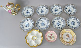 Group of KPM and Limoges Porcelain