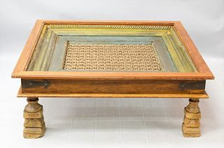 Early Buddhist Iron and Wood Temple Window Table