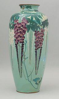 Hayashi Hachizaemon Cloisonne Wisteria Vase