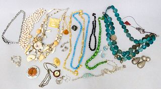 Tray Lot of Sterling and Costume Jewelry