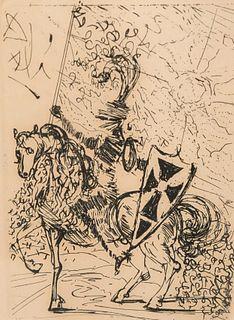 Salvador Dali, El Cid Etching