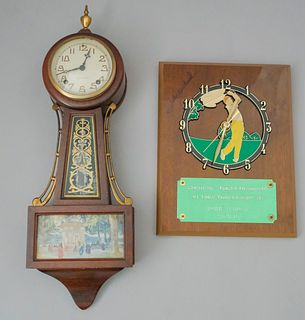 Lot of 2 Clocks including John Havlicek Autograph