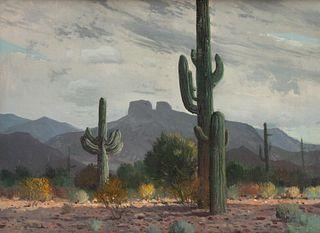 James Swinnerton (American, 1875-1974) Grey Skies