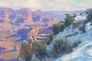 Karl Thomas (American, b. 1948) Snowy Canyon