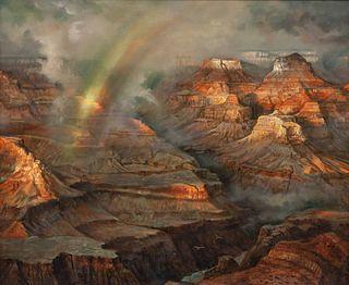 Joseph Sheppard (American, b. 1930) Grand Canyon Storm and Light, 1990