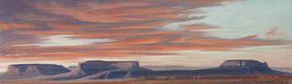 Ed Mell (American, b. 1942) Mesa Sunset
