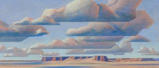 Ed Mell (American, b. 1942) Clouds and Mesa