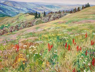 Francis Donald (American, b. 1947) Wild Flowers on Vail Mountain, 1998