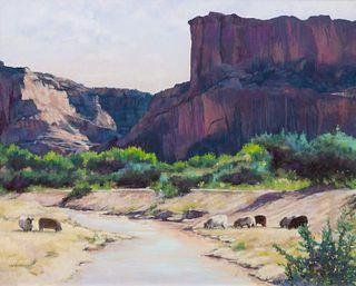 Elizabeth Sandia (American, b. 1946) Winter, Northern New Mexico