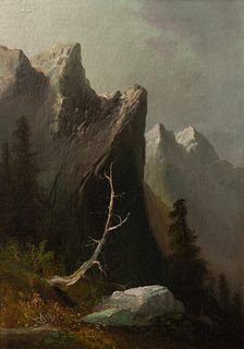 Thomas Hill (American, 1829-1908) Indian Rock - Blue Mountains