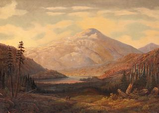 Harvey Otis Young (American, 1840-1901) Untitled (Mountain Lake)