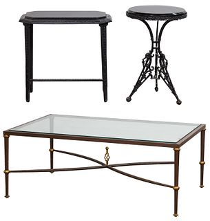 Marble Topped Iron Tables