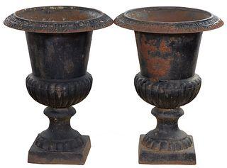 Iron Garden Urns