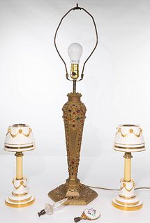 Minton for Tiffany & Company Candle Lamp Assortment