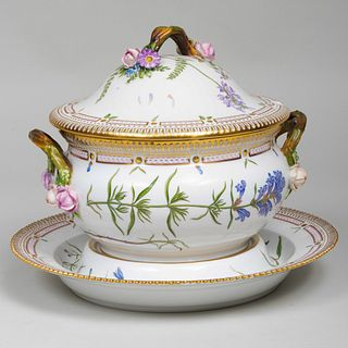 Royal Copenhagen Flora Danica Tureen, Cover and Underplate