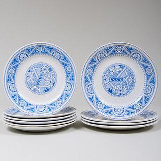 Set of Ten Wedgwood Transfer Printed Plates in the 'Medieval' Pattern