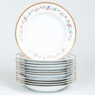 Set of Twelve Limoges Transfer Printed Soup Bowls