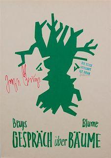 Bernhard Johannes Blume and Joseph Beuys, (German, 1937-2011) and (German, 1921-1986), Gesprach uber Baume