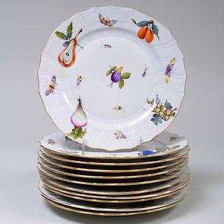 Herend Porcelain Part Service in the 'Market Garden' Pattern