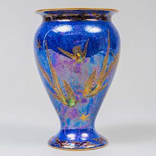Wedgwood Porcelain Fairyland Luster Blue Vase, Designed by Daisy Makeig-Jones