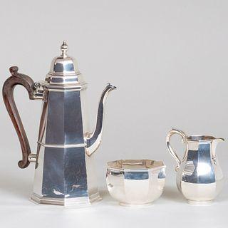 English Silver Three-Piece Coffee Service