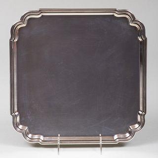 Tiffany & Co. Silver Wedding Tray Inscribed from Barbara and Frank Sinatra