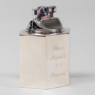 American Silver Table Lighter Inscribed from Frank Sinatra