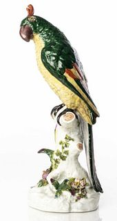 Large Continental Porcelain Model of a Parrot