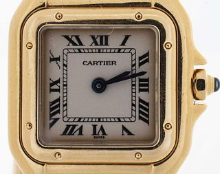 Cartier 18K Yellow Gold Panthere Mini Ladies Watch