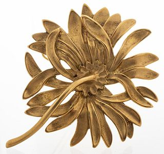 Angela Cummings 18K Yellow Gold Floral Brooch