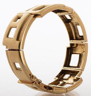 Burle Marx 18K Yellow Gold Hinge Bracelet
