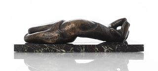 Sydney Alex Kumalo Reclining Nude Bronze Sculpture