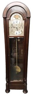 Seth Thomas Oak Dome Top Tall Case Clock