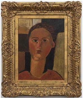 """After Amedeo Modigliani """"Giovane Rossa"""" Oil"""
