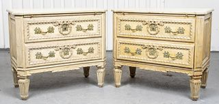 Neoclassical Style Chest Of Drawers, Pair