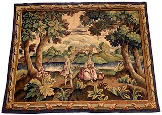 19th Century Continental Pastoral Tapestry